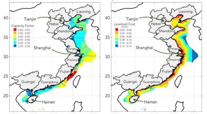 Offshore wind energy could power much of coastal China