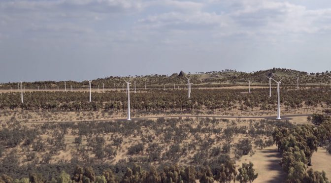 Wind energy in Australia, Acciona wind power complex of 1,026 MW