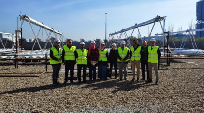 A delegation from the Egyptian national energy agency visits one of Indertec's concentrated solar power plants