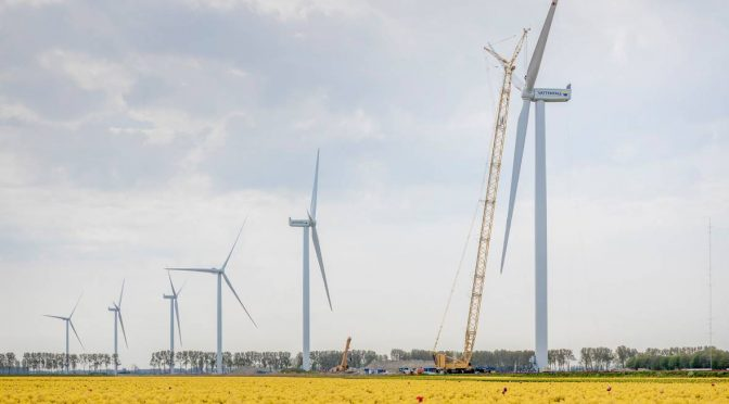 First part of the hybrid wind energy park completed