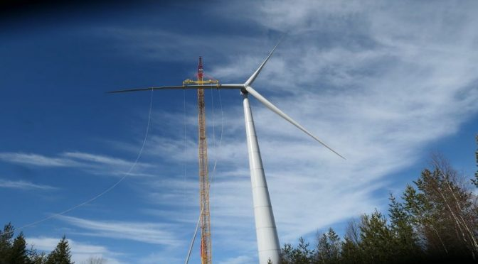 Wind power in Firland, E-147 EP5/4.3 MW wind turbines prototype installed