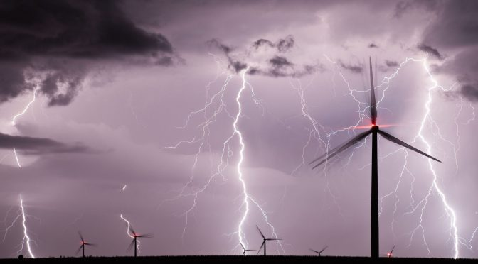 How to protect the wind energy from lightning during the high season of thunderstorms?
