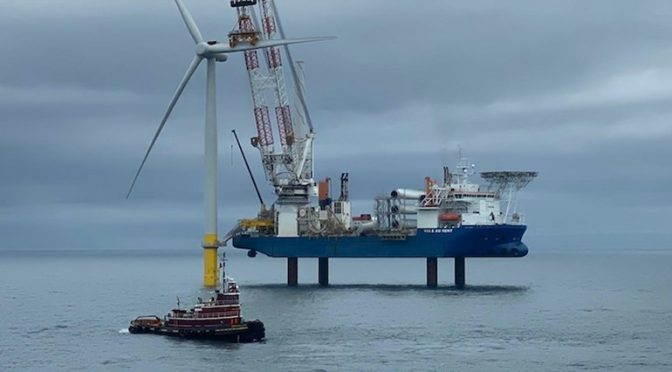 Dominion Energy has completed the installation of the two Siemens Gamesa 6MW wind turbines at the 12MW Coastal Virginia offshore wind farm