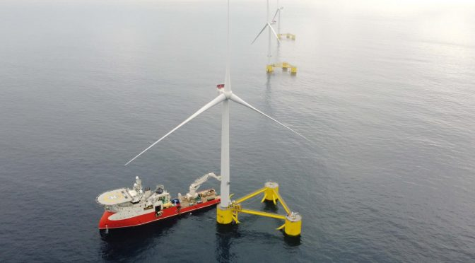 The first floating wind farm in continental Europe is now fully operational
