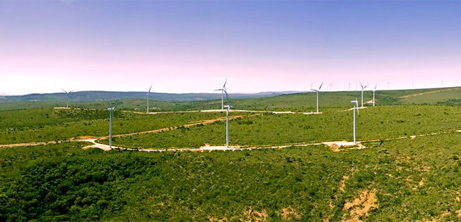 The strong wind season generates record peaks in wind energy generation in the northeast region of Brazil