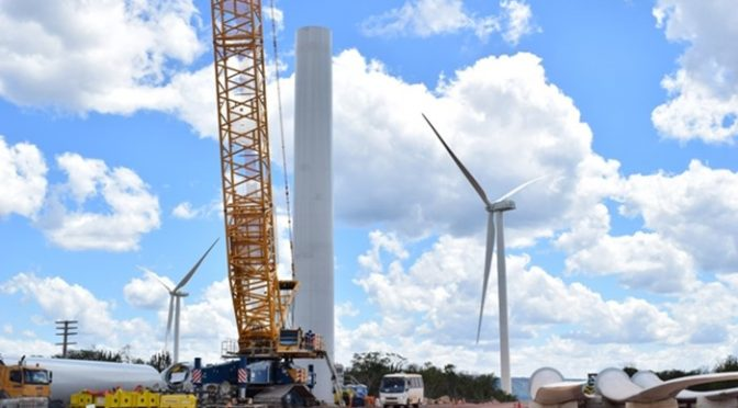 Engie assembles wind turbines at Campo Largo Wind Power Plant