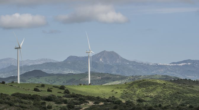 Wind energy in Andalusia, El Tesorillo wind farm is six months old