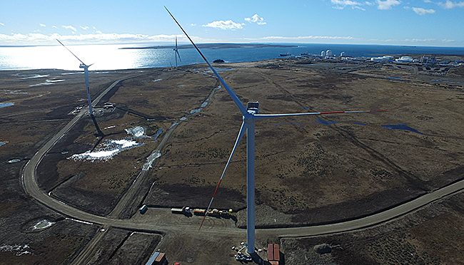 ENAP Wind Farm drives in Magallanes