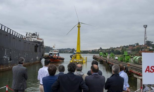Commissioning of the first floating wind energy platform in Santander
