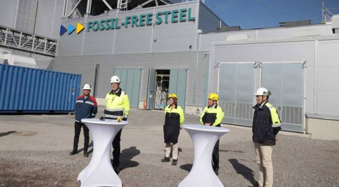 SSAB, LKAB and Vattenfall to start up the world's first pilot plant for fossil-free steel