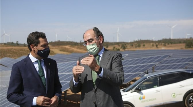 Iberdrola triples its renewable commitment in Andalusia which will reach 3,000 MW in the coming five years