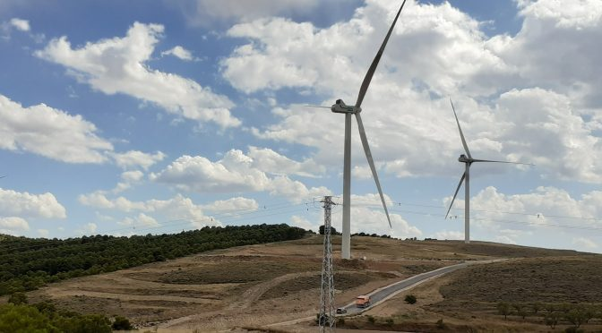 Wind power in Aragón, Endesa's new wind farm