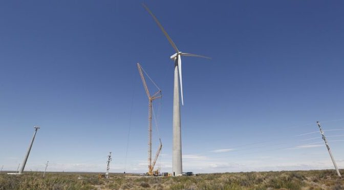 Wind energy in Argentina, first wind farm in Neuquén