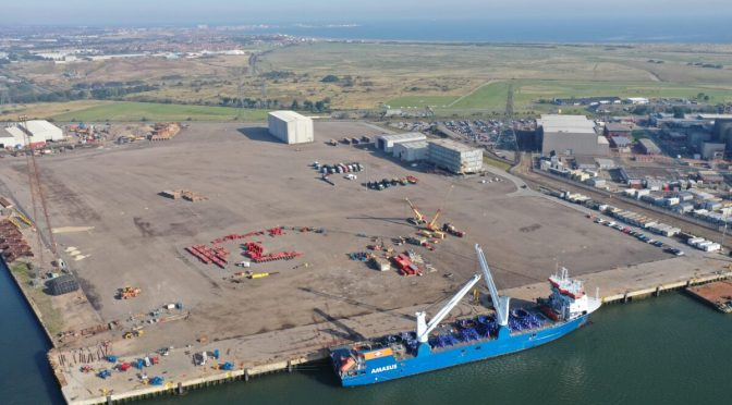 Preparatory works begin for wind turbines installation of the Triton Knoll Offshore Wind Farm