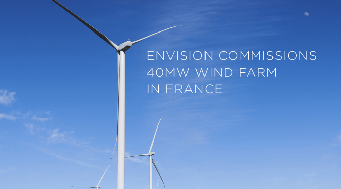 Envision commisions wind farm in France