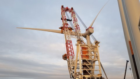 First wind turbine at Kriegers Flak offshore wind farm in place