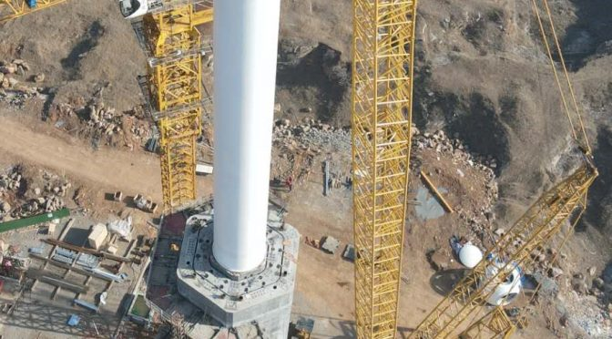 Highest self-supported wind tower ever built
