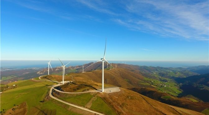 Iberdrola starts up its wind energy plants in Asturias