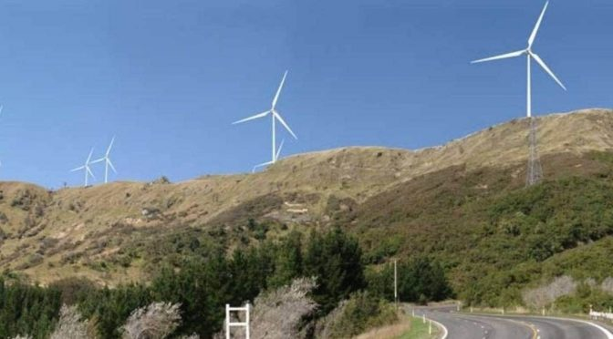 Meridian Energy's huge new wind farm in New Zealand