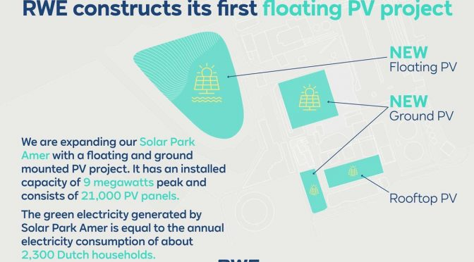 13,400 solar panels on a lake: RWE constructs its first floating photovoltaic project