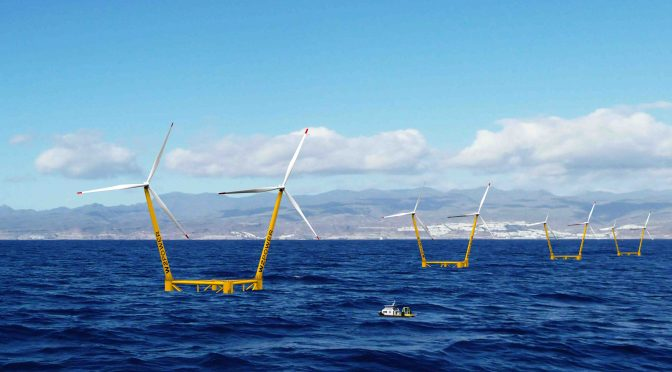EnerOcean projects 180MW of floating offshore wind energy in the Canary Islands