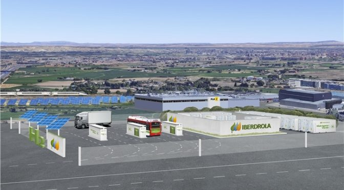 Iberdrola mobilises Aragón's first green hydrogen generation project