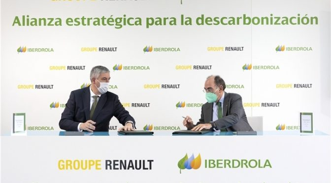 Renault group signs agreement with Iberdrola to reach zero carbon footprint in its factories