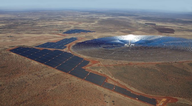 100 MW Redstone Concentrated Solar Power with 12 Hours Daily Thermal Energy Storage Closes Financing