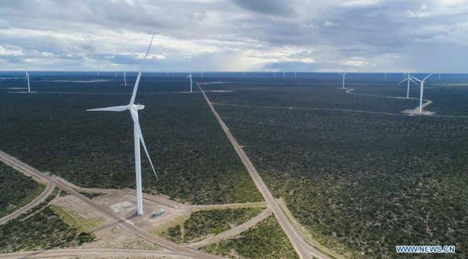 Wind power in Argentina, Chinese technology wind turbines start operating