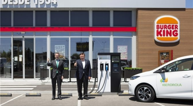 Iberdrola and RB Iberia to install 400 electric vehicle charging points in restaurants