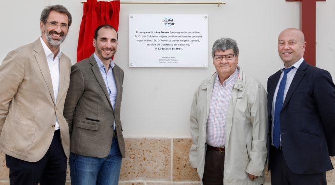 Capital Energy inaugurates its first 39 MW wind farm in Castilla y León, Las Tadeas