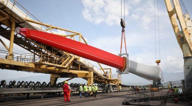 Wind power in Colombia, wind turbines for La Guajira wind farm