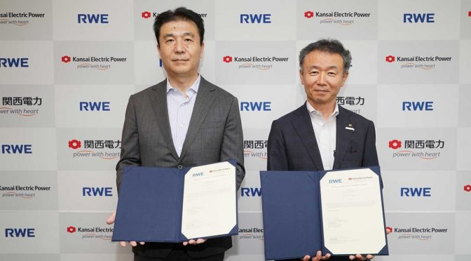 Kansai EPCO and RWE team up for floating offshore wind energy in Japan