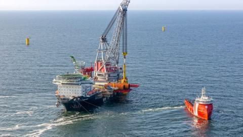 Offshore construction of Hollandse Kust Zuid wind farm going on at full speed