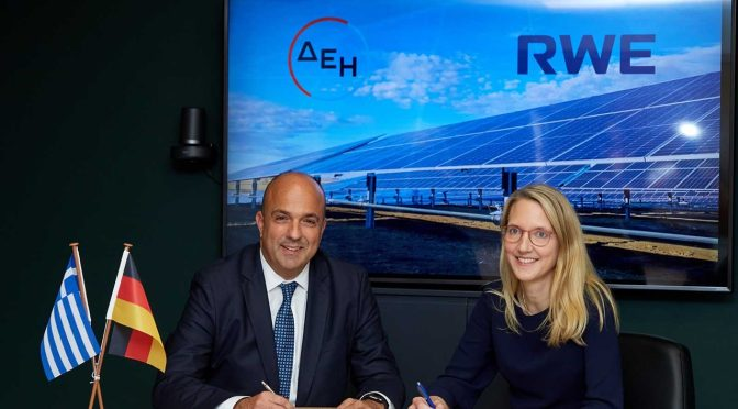 RWE and PPC form Joint Venture to realise renewable energy projects