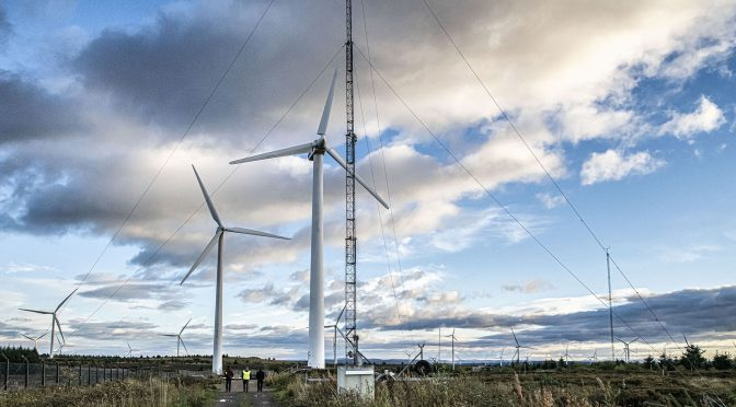 Wind turbines made with fabric